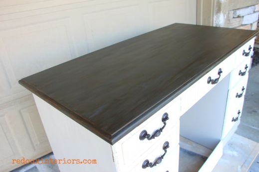 Vintage Industrial Dumpster Desk cece vermont slate and stain redouxinteriors