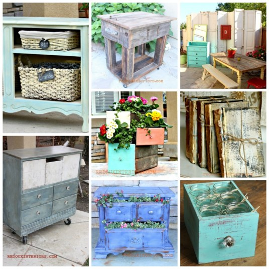 Dumpster Makeovers Earth Day collage