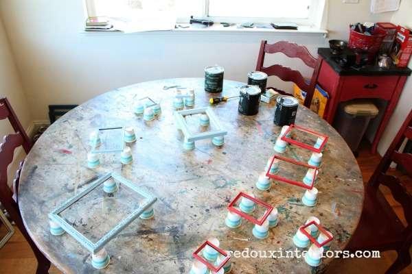 Painting Metal Frames DIY Paint redouxinteriors