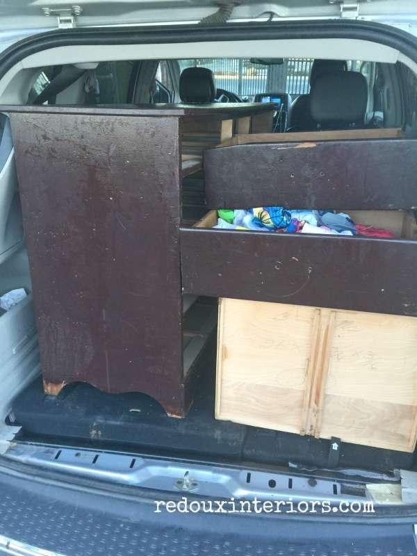free dresser in van with drawers redouxinteriors
