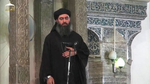 "Abu-Bakr al-Baghdadi, leader of the so-called ""Islamic State"""