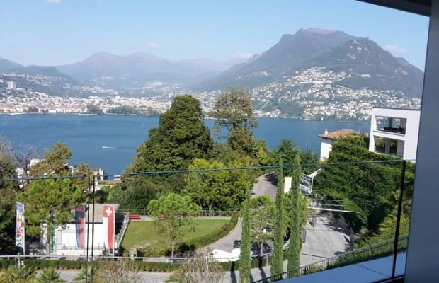 Sicht aus dem Fenster des View Lugano