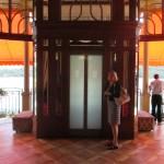 The elevator to street level at Hotel Tremezzo