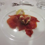 The prosciutto and fig starter