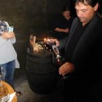 Andrej pouring the wine