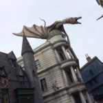 The dragon atop Gringott's Bank