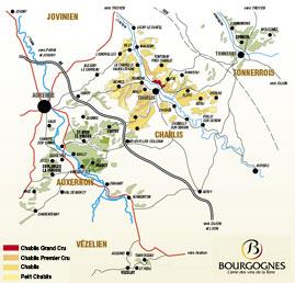 Vineyard Areas of Chablis