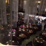 View of the main dining area from above