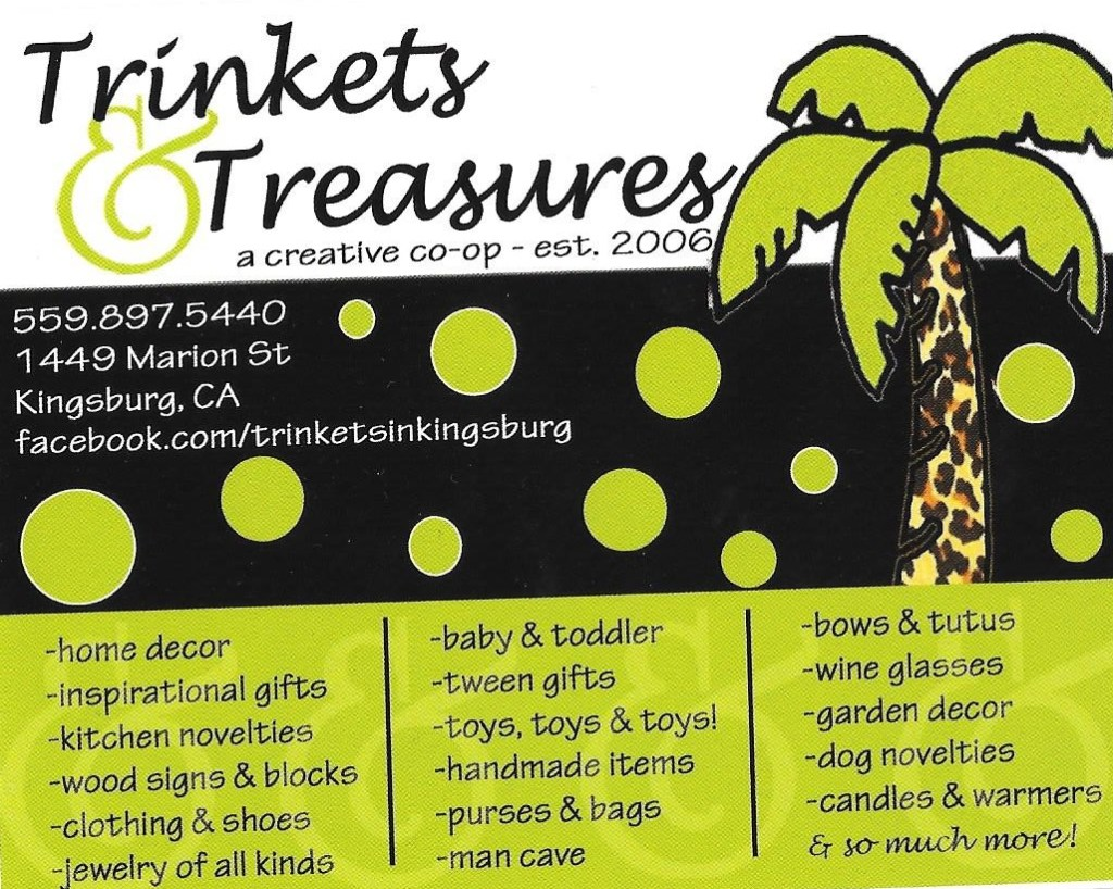 Trinkets and Treasures Card