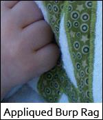 Appliqued Burp Rag