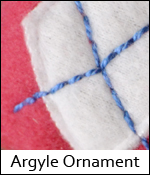 Argyle Ornament