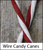Wire Candy Canes