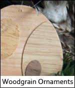 Woodgrain Ornaments