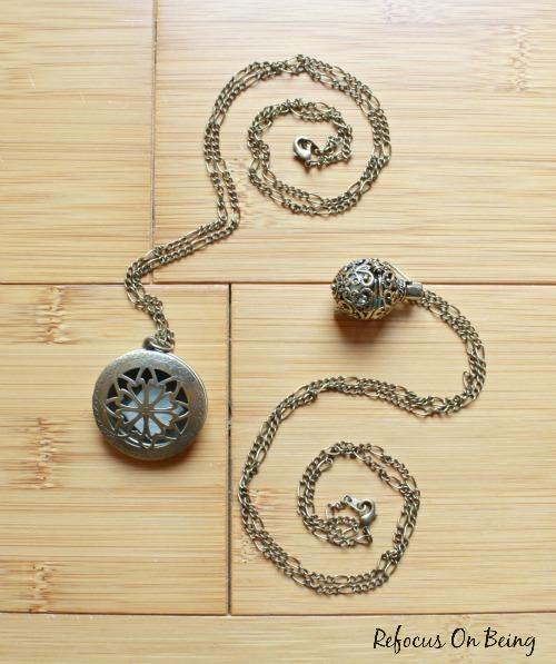 DIY Essential Oil Diffuser Locket Necklaces . Refocus On Being