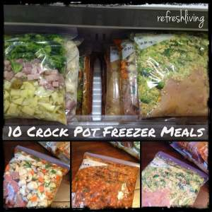 10 Crock Pot Freezer Meals