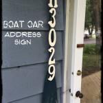 Boat Oar Address Sign