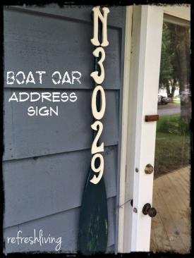 Boat Oar Address Sign