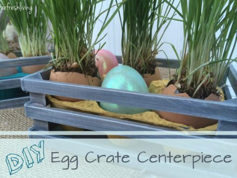 reused egg crate easter decor