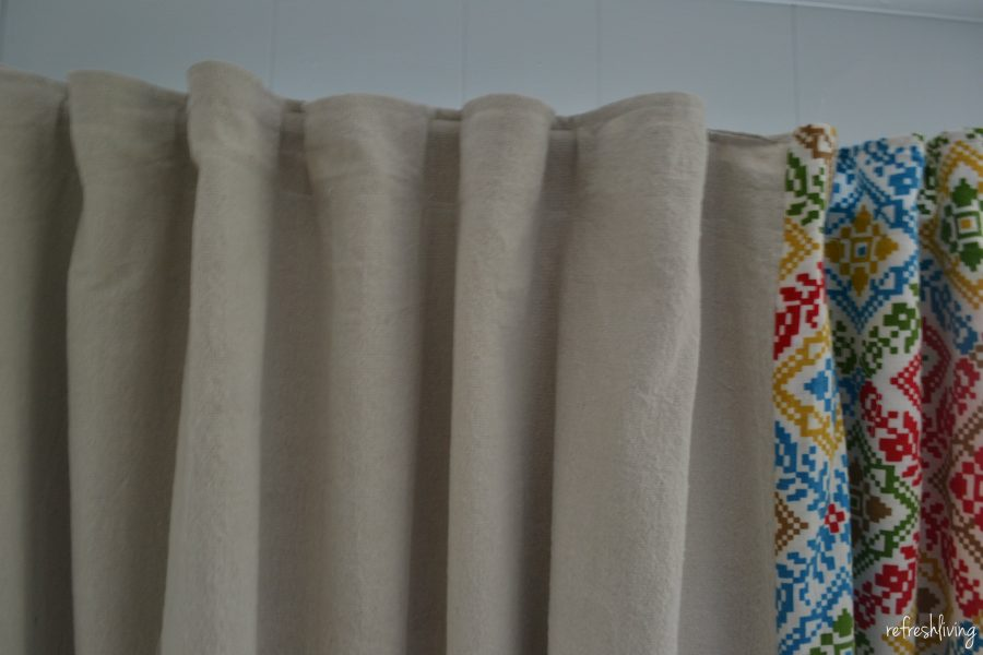 DIY Drop Cloth Curtains (modified for a large window) - Refresh Living