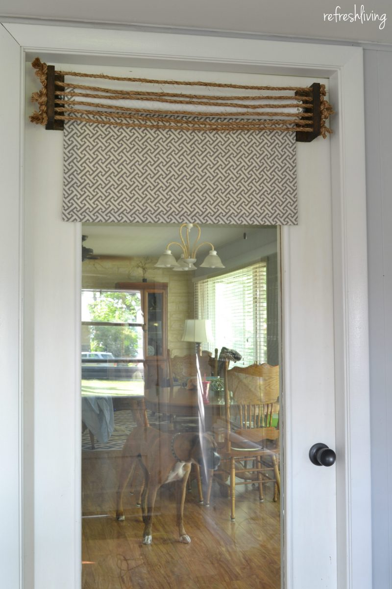 Fabric Roller Blinds : Diy fabric roller shades refresh living