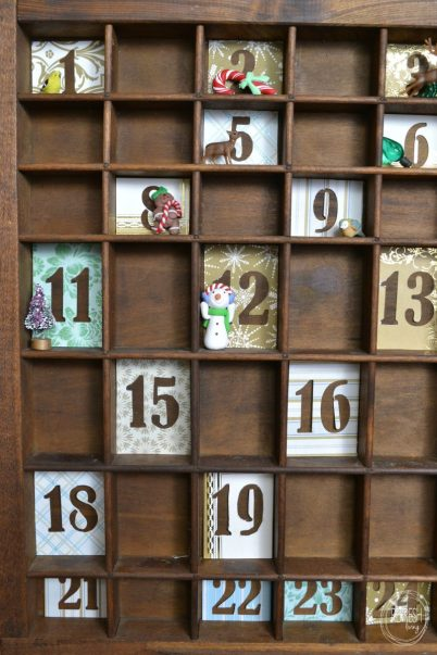 rustic vintage advent calendar
