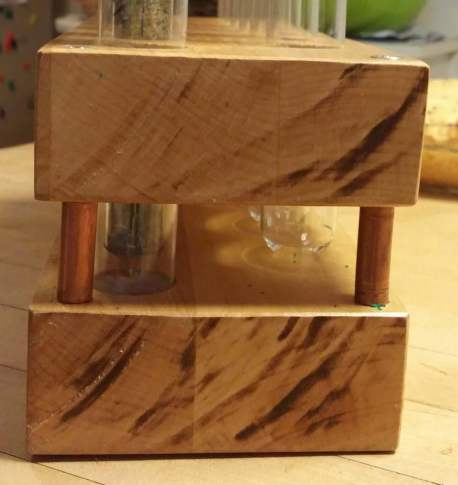 test tube and butcher block spice rack tutorial 2