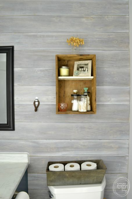 Install a DIY plank wall | how to whitewash wood | whitewashed horizontal plank wall | whitewash ship lap wall | the best way to whitewash wood