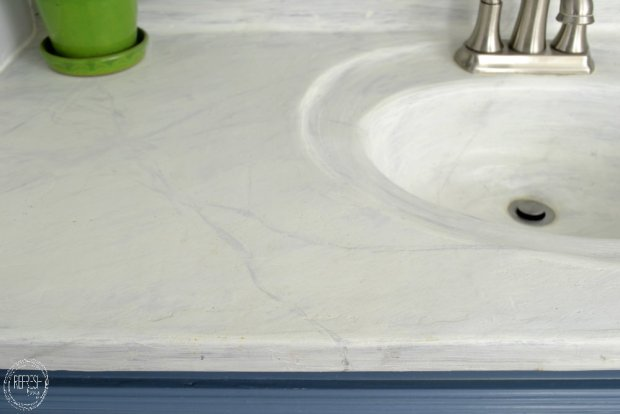 diy concrete counter top with paint