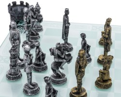 Small Of Medieval Chess Set