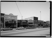 EXTERIOR_VIEW,_LOOKING_NORTHEAST_-_Main_Street_(Commercial_Streetscapes),_Montevallo,_Shelby_County,_AL_HABS_ALA,59-MONVA,4-1.tif