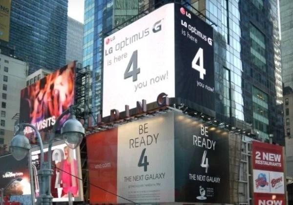 """LG  """"sgambetta"""" Samsung a Times Square"""