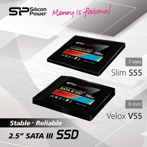 Silicon Power lancia gli SSD Velox V55 e Slim S55