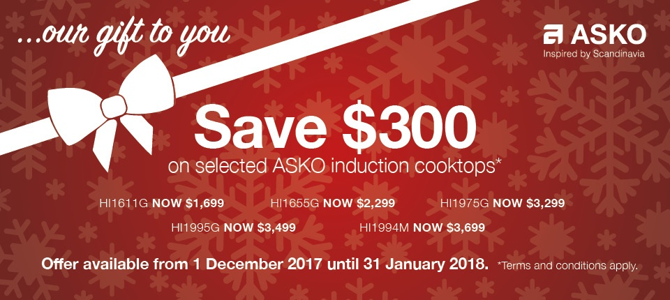 asko gift cooktops induction