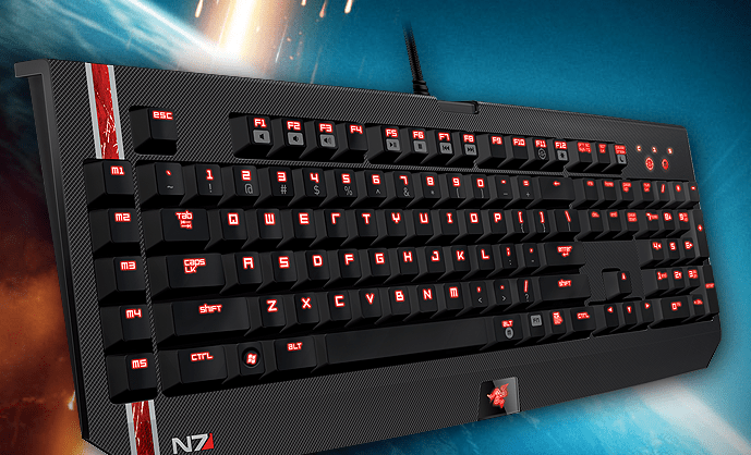 Mass Effect 3 Razer keyboard mouse headset gaming image 003