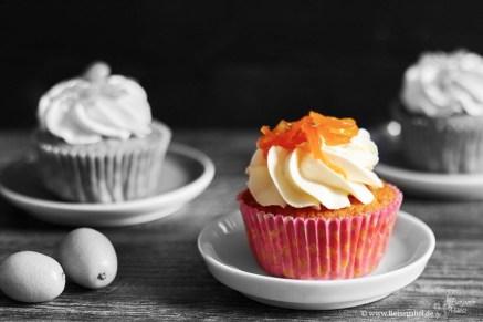 Orangencupcakes mit Walnüssen
