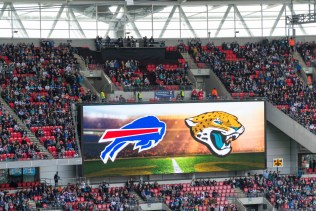 Buffalo Bills gegen Jacksonville Jaguars im Wembley Stadion London (NFL International Series 2015)