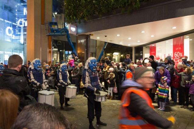 Winter Carnival Parade 2015 Newcastle - Blaue Monster
