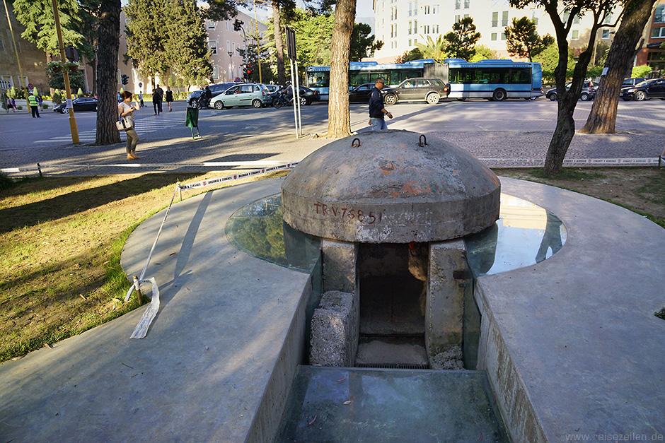 Albanien Reisebericht Reisetipps Tirana City Guide Bunker