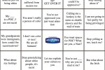 White Privilege Denial Bingo