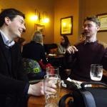 David with conference organizer Tim Huchings enjoying a well-earned pint at the Swan and Three Cygnets