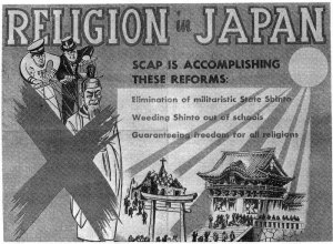 United States War Department Poster. Reproduced in William P. Woodard, The Allied Occupation of Japan and Japanese Religions 1945–1952 (Leiden: E. J. Brill, 1972), frontispiece
