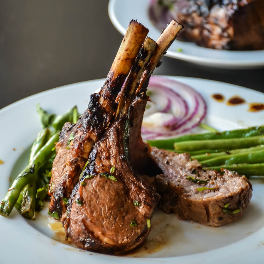 This oven roasted elegant rack of lamb is quick to make, juicy and ...