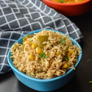 Sweet corn Bell pepper Pulav