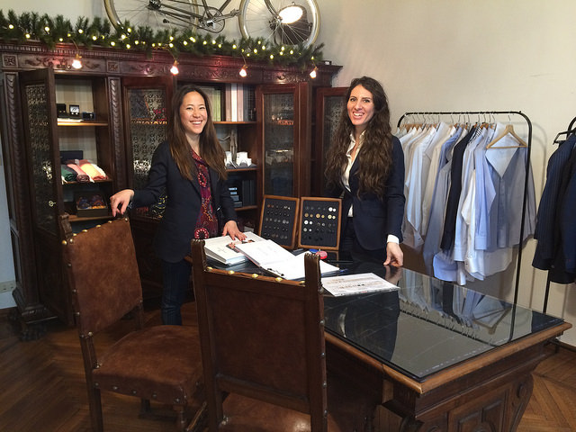 Naomi and Alessandra of SATOR Milano Bespoke