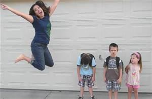 mom jumping for joy