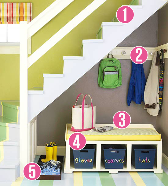 5 Ideas for using the space under the stairs