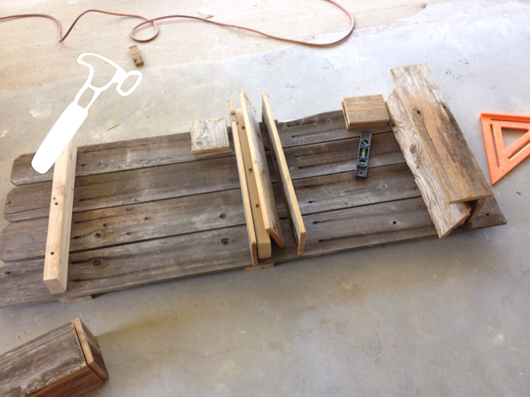 Wondrous Building A Rustic Bathroom Shelf By Weekend Country Girl Featured On Remodelaholic Building Bathroom Shelves Ideas Building Bathroom Closet Shelves bathroom Building Bathroom Shelves