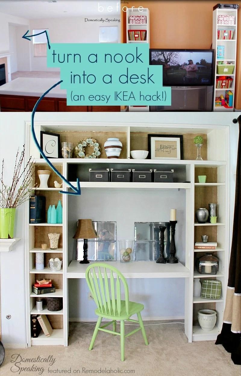 Large Of Built In Desk