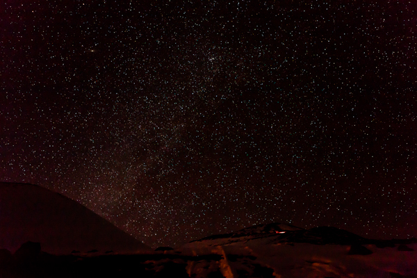 After the sunset, we enjoyed a gorgeous view of the stars.