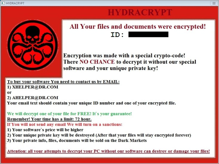 HydraCrypt Ransomware